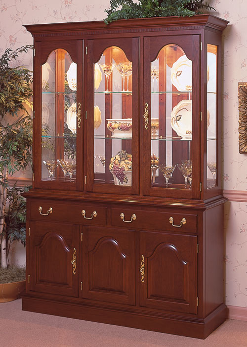 Cherry china cabinet cherry dining room furniture made in for Dining room tables made in usa