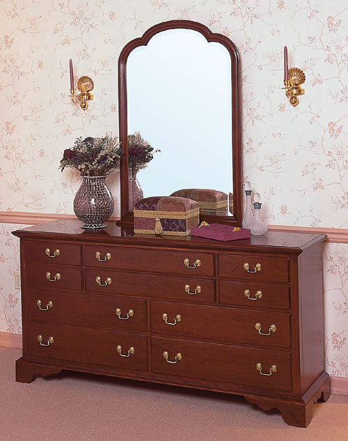 Cherry Triple Dresser Cherry Bedroom Furniture Made In The Usa