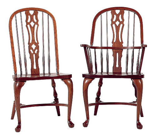 sc 1 st  Colonial Furniture & Cherry Bow Back Chairs