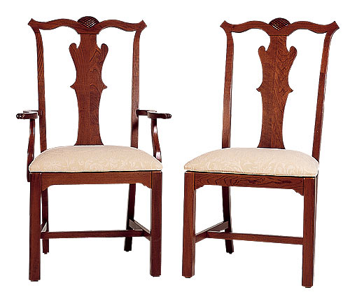 Cherry Chippendale Chairs