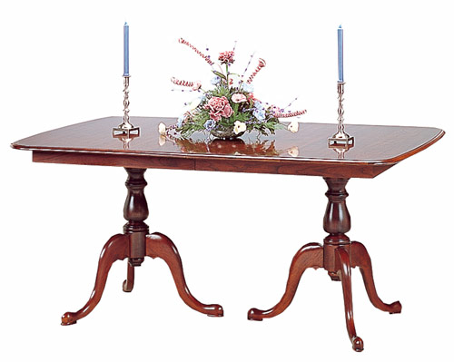 Cherry Pedestal Dining Table Made in the America