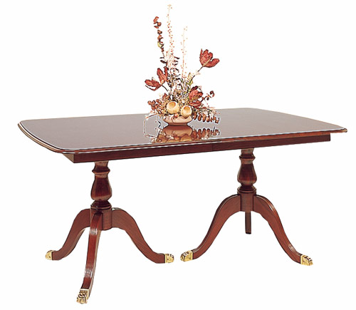 Cherry Double Pedestal Dining Table Made in the America