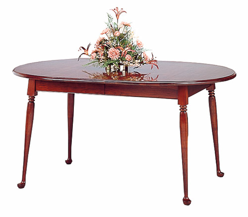 cherry oval dining table made in the usa. Black Bedroom Furniture Sets. Home Design Ideas