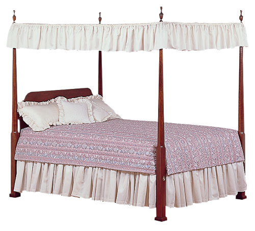 cherry pencil post bed bedroom furniture made in the USA