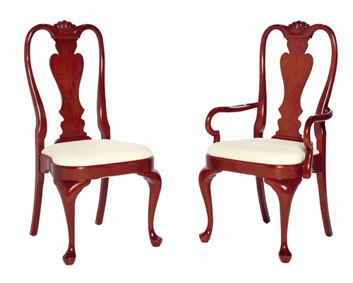 Cherry Queen Anne Chairs