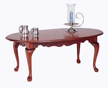 Cherry oval coffee table for Oval cherry wood coffee table