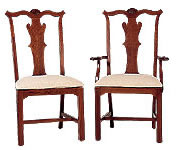 cherry dining chair chippendale
