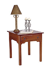 Cherry One Drawer End Table No. 8201