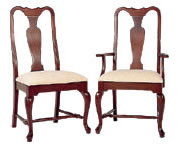 cherry dining chair queen anne