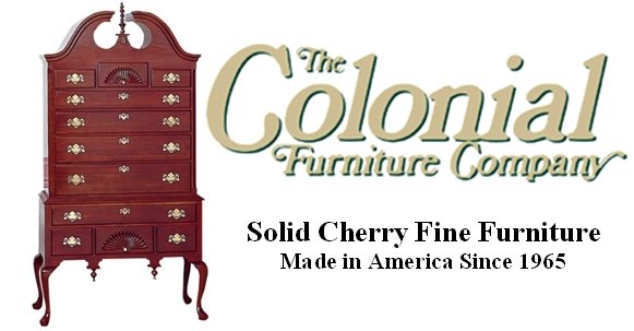 Cherry Dining Room Solid Wood Furniture makers Colonial ...
