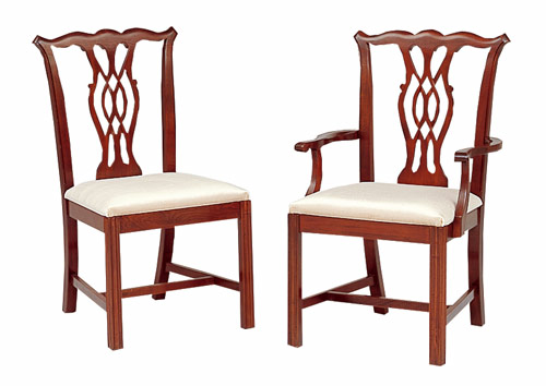 Cherry Chippendale Chairs Dining